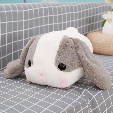 grosse peluche lapin gris