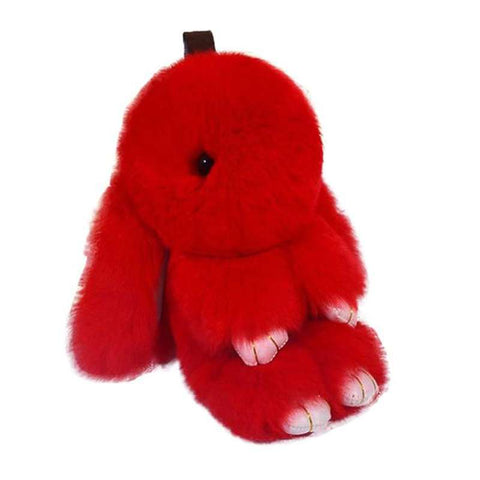 peluche lapin rouge