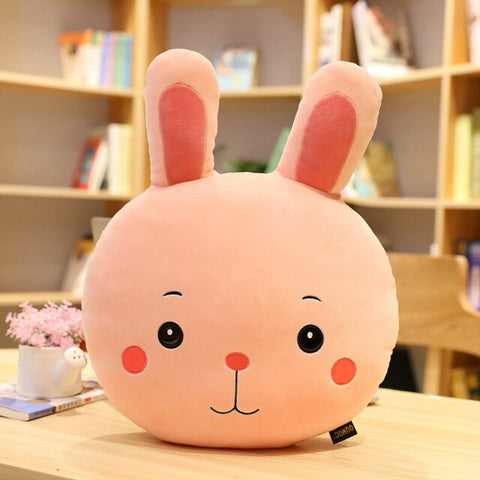 Lapin Tête Coussin