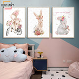 Tableau Lapin Chambre Fille