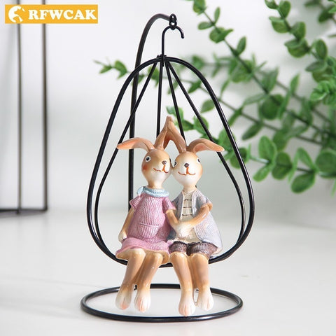 Lapins Figurines Couple