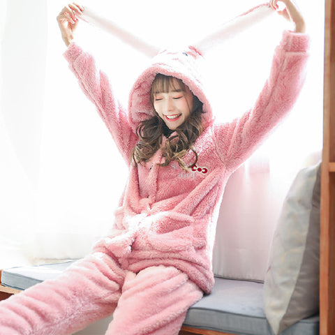 Kigurumi Lapin Rose Adulte