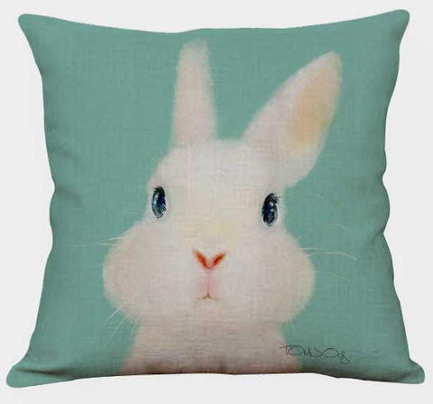 Coussin Dessin Lapin