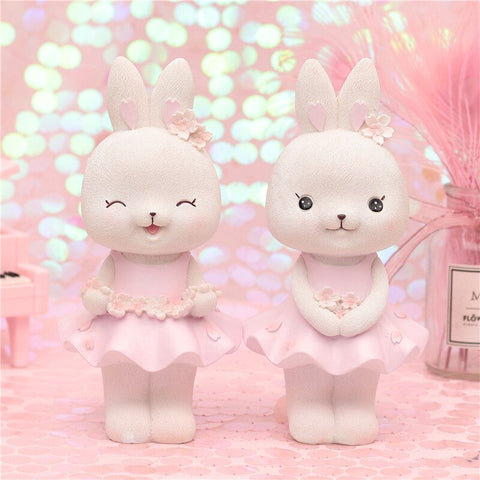 Figurine Lapin Rose