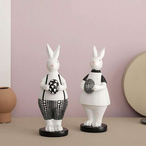 sculpture lapin paques