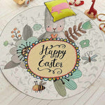 tapis lapin rond happy easter
