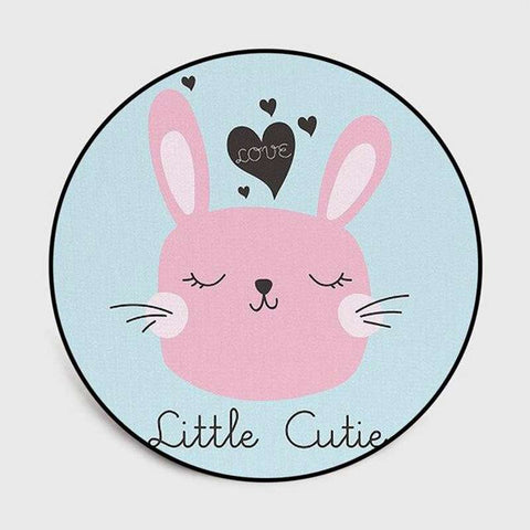 tapis lapin rond little cutie