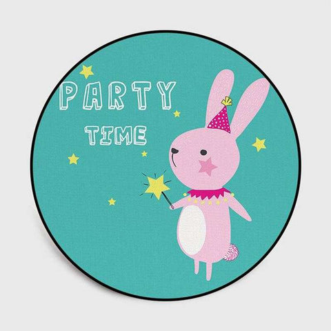 tapis lapin rond party time