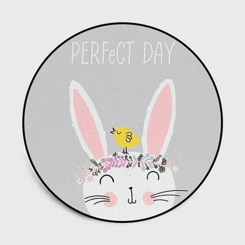 tapis lapin rond perfect day