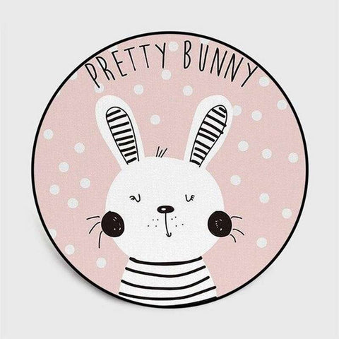 tapis lapin rond pretty bunny