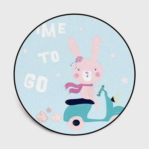 tapis lapin rond time to go