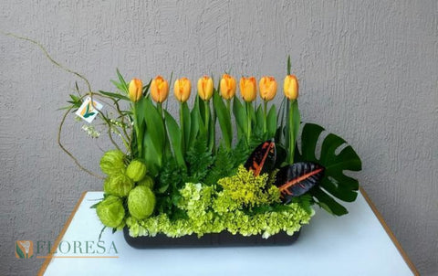 Tulipanes Doble Sandy 2 Arreglo Floral