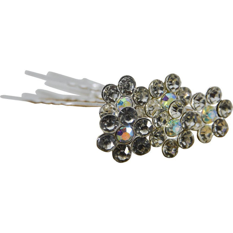 Crystal Flower Hairpins