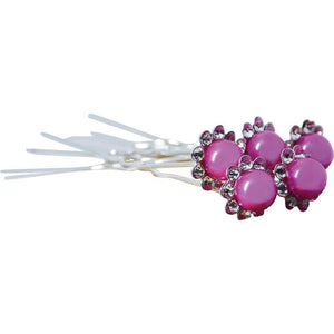 Crystal & Pearl Hairpins Lg