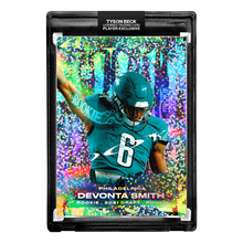 Load image into Gallery viewer, 🦅  DEVONTA SMITH X TYSON BECK - RC - DRAFTED - PHILADELPHIA - CONFETTI REFRACTOR - LIMITED TO 99