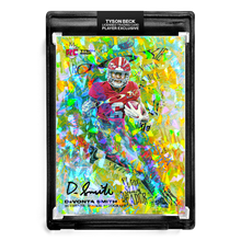 Load image into Gallery viewer, ❄️ 💀 DEVONTA SMITH X TYSON BECK - SLIM REAPER - CRACKED ICE REFRACTOR - RC AUTOGRAPH - LIMITED TO 30