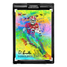 Load image into Gallery viewer, 🌈 💀 DEVONTA SMITH X TYSON BECK - SLIM REAPER - RAINBOW FOIL - RC AUTOGRAPH - LIMITED TO 25