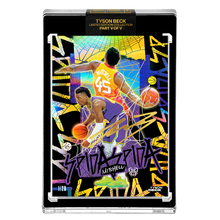 Load image into Gallery viewer, PART V OF V - OFFICIAL DONOVAN MITCHELL X TYSON BECK 🌈 RAINBOW AP VARIATION – ARTIST GOLD AUTOGRAPHED CARD - LIMITED TO 20