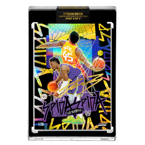 PART V OF V - OFFICIAL DONOVAN MITCHELL X TYSON BECK 🌈 RAINBOW AP VARIATION – ARTIST GOLD AUTOGRAPHED CARD - LIMITED TO 20