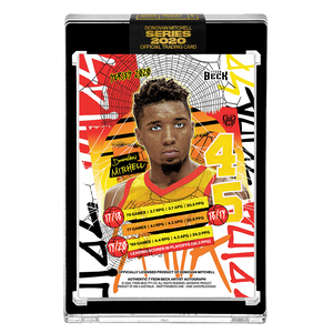 PART V OF V - OFFICIAL DONOVAN MITCHELL X TYSON BECK SUNSET BASE – ARTIST GOLD AUTOGRAPHED CARD - LIMITED TO 1