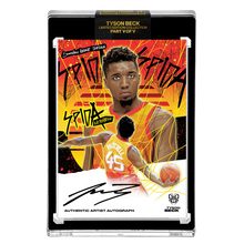Load image into Gallery viewer, PART V OF V - OFFICIAL DONOVAN MITCHELL X TYSON BECK SUNSET BASE – ARTIST BLACK AUTOGRAPHED CARD - LIMITED TO 25