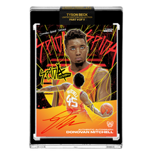 Load image into Gallery viewer, PART V OF V - OFFICIAL DONOVAN MITCHELL ☀️ METALLIC SUNSET – RED AUTOGRAPHED CARD - LIMITED TO 15