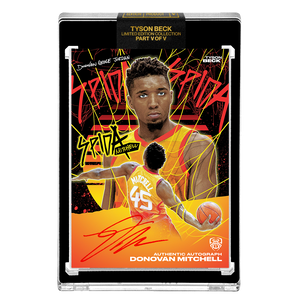 PART V OF V - OFFICIAL DONOVAN MITCHELL ☀️ METALLIC SUNSET – RED AUTOGRAPHED CARD - LIMITED TO 15