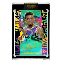 Load image into Gallery viewer, PART V OF V - OFFICIAL DONOVAN MITCHELL 🌈 RAINBOW SPIDA – GOLD AUTOGRAPHED CARD - LIMITED TO 1