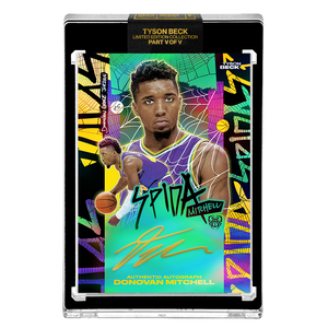 PART V OF V - OFFICIAL DONOVAN MITCHELL 🌈 RAINBOW SPIDA – GOLD AUTOGRAPHED CARD - LIMITED TO 1