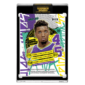 PART V OF V - OFFICIAL DONOVAN MITCHELL RETRO BASE – BLACK AUTOGRAPHED CARD - LIMITED TO 29