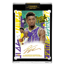 Load image into Gallery viewer, PART V OF V - OFFICIAL DONOVAN MITCHELL RETRO BASE – GOLD AUTOGRAPHED CARD - LIMITED TO 5