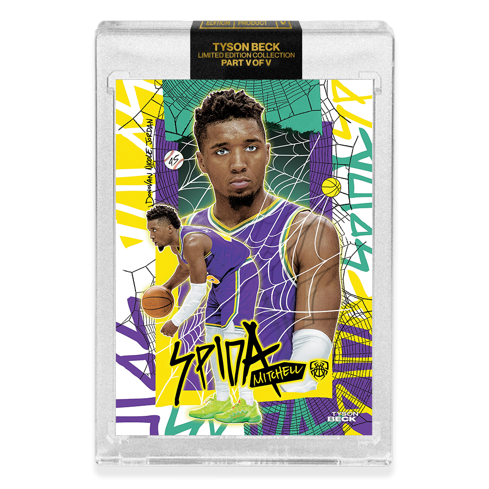 PART V OF V - OFFICIAL DONOVAN MITCHELL X TYSON BECK - RETRO BASE CARD - LIMITED TO 750