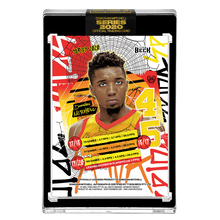 Load image into Gallery viewer, PART V OF V - OFFICIAL DONOVAN MITCHELL SUNSET BASE – GOLD AUTOGRAPHED CARD - LIMITED TO 5