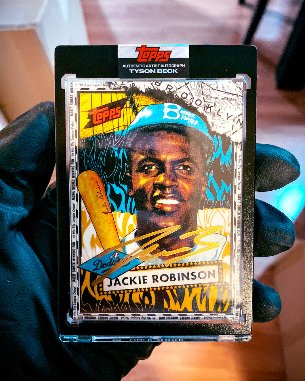 Jackie Robinson by Tyson Beck - GOLD AUTOGRAPH - LIMITED TO 10