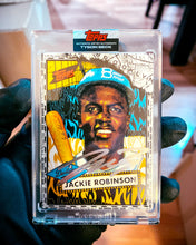 Load image into Gallery viewer, Jackie Robinson by Tyson Beck - SILVER CHROME AUTOGRAPH - LIMITED TO 42