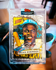 Jackie Robinson by Tyson Beck - SILVER CHROME AUTOGRAPH - LIMITED TO 42