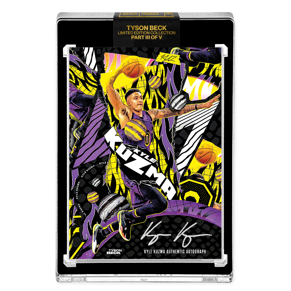 PART III OF V - OFFICIAL KYLE KUZMA X TYSON BECK - AP VARIATION AUTOGRAPHED CARD - LIMITED TO 15