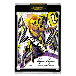 PART III OF V - OFFICIAL KYLE KUZMA X TYSON BECK - AUTOGRAPHED CARD - LIMITED TO 25