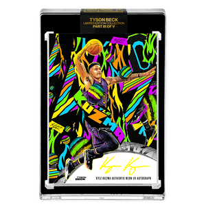 PART III OF V - OFFICIAL KYLE KUZMA X TYSON BECK - NEON UV HAND EMBELLISHED AUTOGRAPHED CARD - LIMITED TO 15