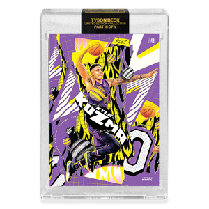 PART III OF V - OFFICIAL KYLE KUZMA X TYSON BECK - METALLIC PURPLE PARALLEL - LIMITED TO 149