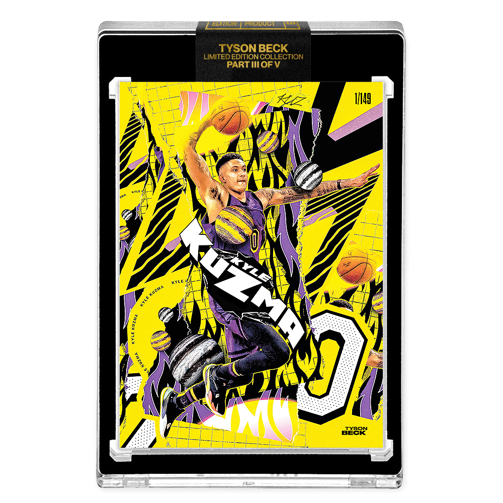 PART III OF V - OFFICIAL KYLE KUZMA X TYSON BECK - METALLIC YELLOW PARALLEL - LIMITED TO 149
