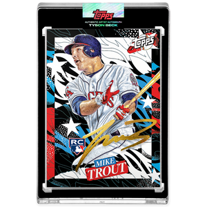 Mike Trout by Tyson Beck - GOLD AUTOGRAPH - LIMITED TO 10