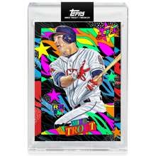 Load image into Gallery viewer, Mike Trout by Tyson Beck - HAND EMBELLISHED NEON UV - LIMITED TO 127