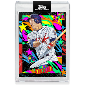 Mike Trout by Tyson Beck - HAND EMBELLISHED NEON UV - LIMITED TO 127