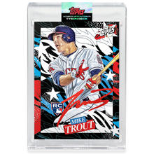 Load image into Gallery viewer, Mike Trout by Tyson Beck - RED AUTOGRAPH - LIMITED TO 27