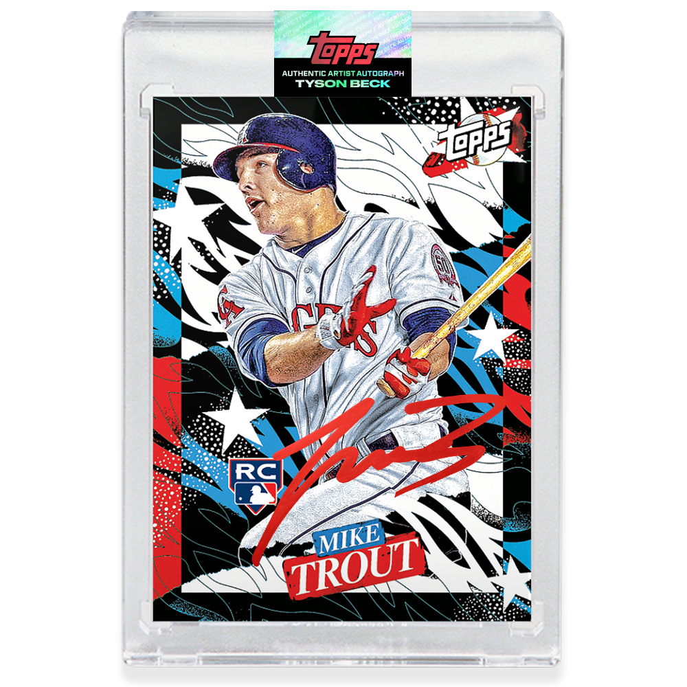 Mike Trout by Tyson Beck - RED AUTOGRAPH - LIMITED TO 27