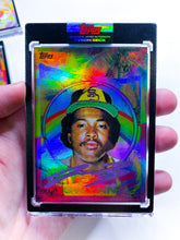 Load image into Gallery viewer, 🌈 RAINBOW FOIL - Tony Gwynn by Tyson Beck - RAINBOW PURPLE - LIMITED TO 1 🌈