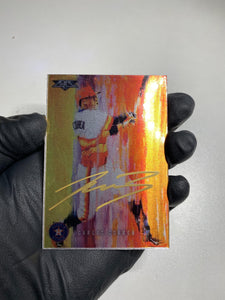 Carlos Correa - 1/1 TYSON BECK X TOPPS AUTOGRAPHED 2015 FIRE METAL CARD 🔥