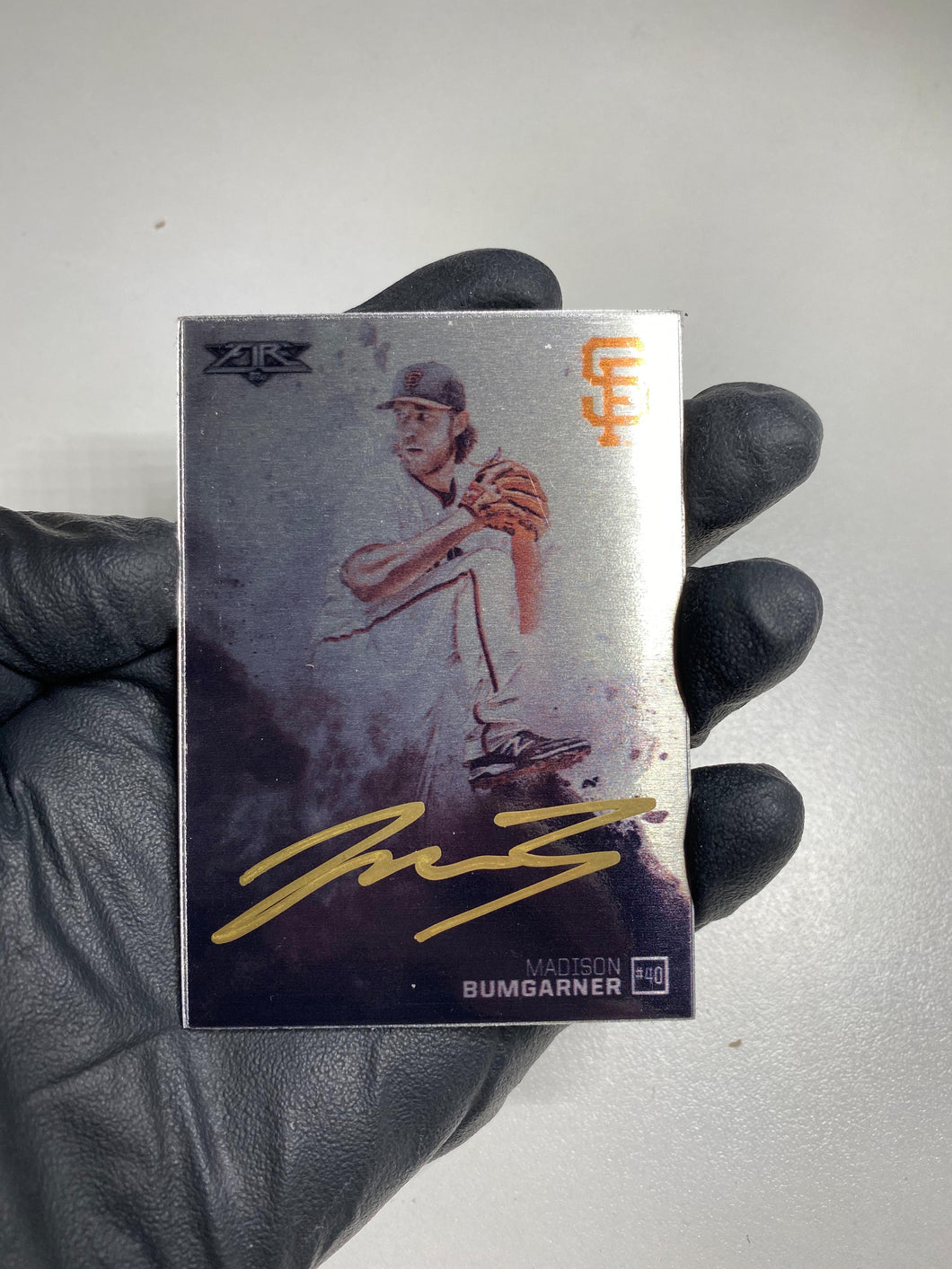 Madison Bumgarner - 1/1 TYSON BECK X TOPPS AUTOGRAPHED 2015 FIRE METAL CARD 🔥