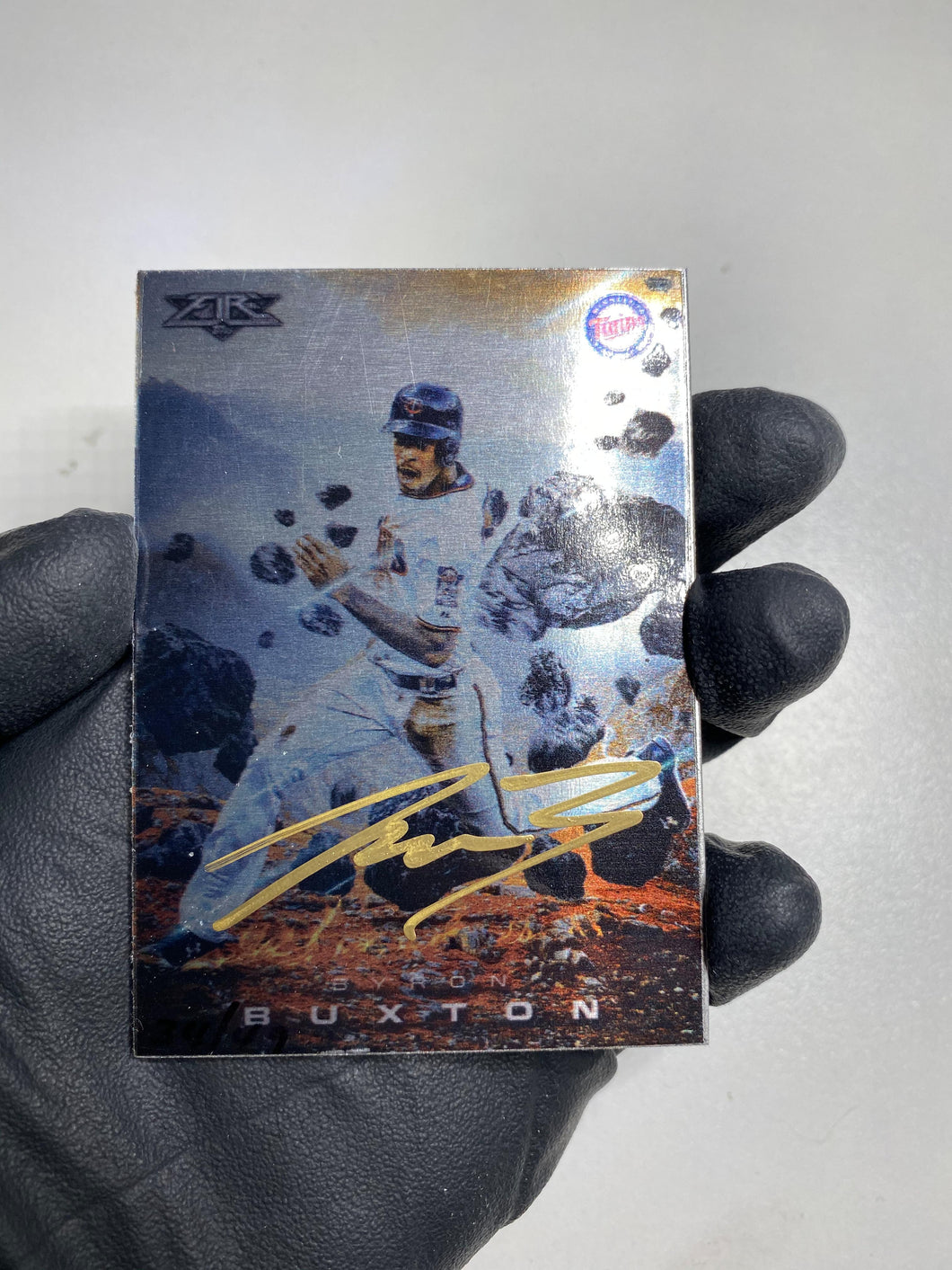 Byron Buxton - 1/1 TYSON BECK X TOPPS AUTOGRAPHED 2015 FIRE METAL CARD 🔥